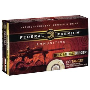 Federal Gold Medal Berger .223 Remington Ammunition 20 Rounds 73 Grain Berger Hollow Point Boat Tail 2800fps