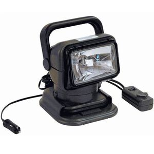 Golight Searchlight 225,000 Candela Cr5 Pentabeam Technology Suction Cup and Permanent Mount Programmable Wired Remote Polymer Body Charcoal 5149
