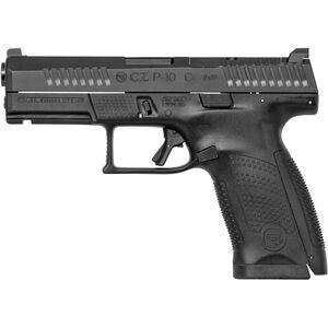 "CZ P-10 C 9mm Semi Auto Pistol 4.0"" Barrel 15 Rounds Tritium Night Sights Optics Ready Polymer Frame Matte Black Finish"
