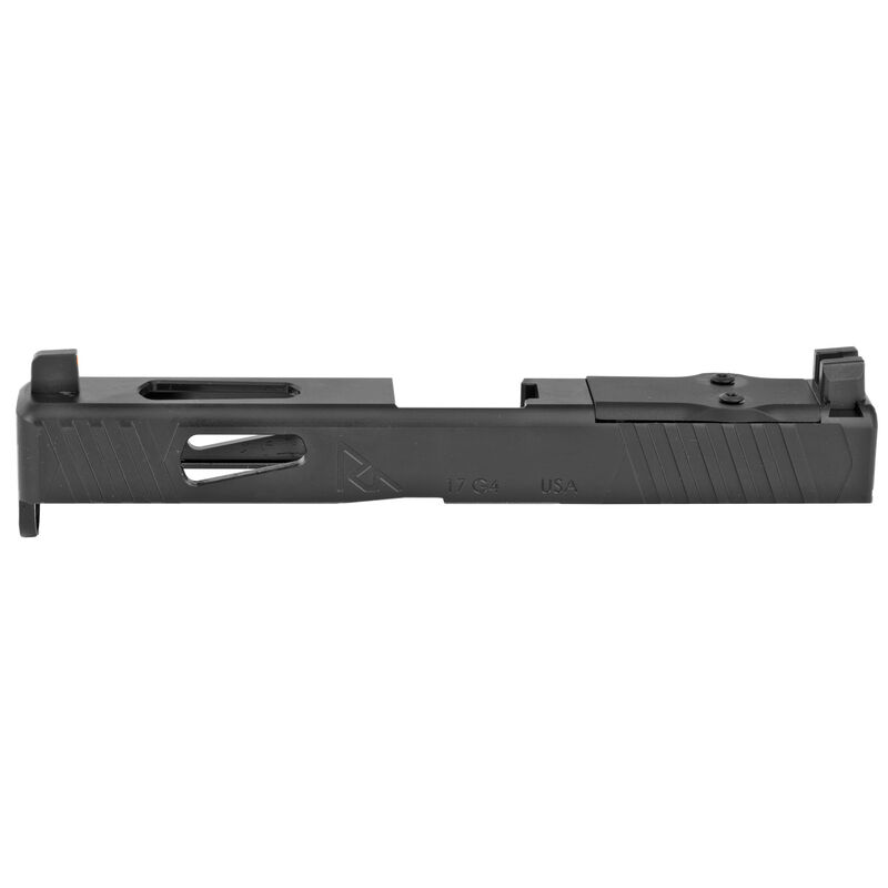 Rival Arms Slide for GLOCK 17 Gen 4 Frames MOS/DOC Optic Cut/Night Sights CNC Machined 17-4PH Stainless Steel Billet Matte Black Finish