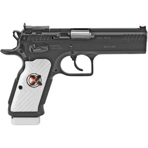 "EAA Witness Stock II Xtreme 9mm Luger Semi Auto Pistol 4.5"" Barrel 17 Rounds Hand Tuned Adjustable Supersight Steel Frame Aluminum Grips Two Tone Finish"