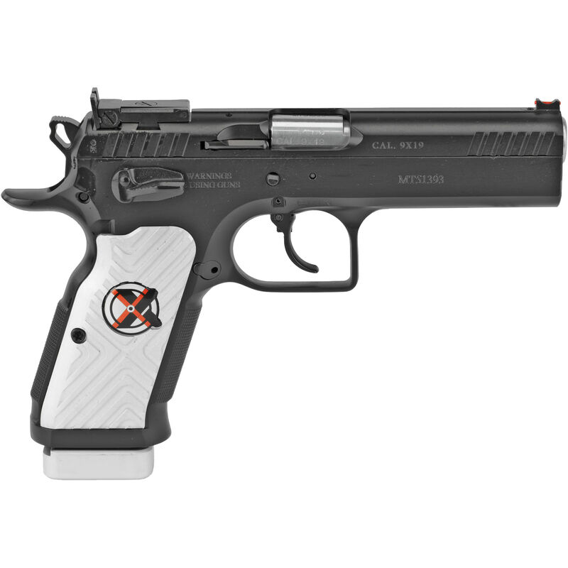 """EAA Witness Stock II Xtreme 9mm Luger Semi Auto Pistol 4.5"""" Barrel 17 Rounds Hand Tuned Adjustable Supersight Steel Frame Aluminum Grips Two Tone Finish"""