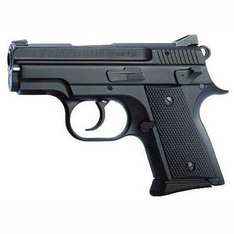 "CZ 2075 RAMI BD Semi Automatic Pistol 9mm Luger 3"" Barrel 10 Rounds Night Sights Rubber Grips Black Finish 01754"