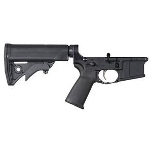 LWRC International IC AR-15 Complete Ambidextrous Lower Receiver Enhanced Fire Control Group Compact Stock MOE Grip Matte Black