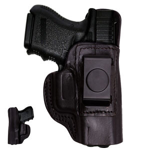 Tagua Gunleather IPH GLOCK 42 Inside the Pants Holster Right Hand Leather Black IPH-305