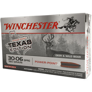 Winchester Super X .30-06 Springfield Ammunition 200 Rounds Texas Edition Power Point 180 Grains
