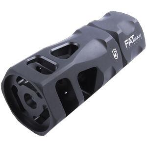 Phase 5 FATman Hex Break .300 BLK/.308 Win/7.62 NATO AR Style Muzzle Brake with Crush Washer 5/8x24 TPI Steel FATman-5/8-24