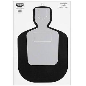"""Birchwood Casey Eze-Scorer 12""""x18"""" BC-19 Paper Target Indoor/Outdoor White 10 Pack 37201"""