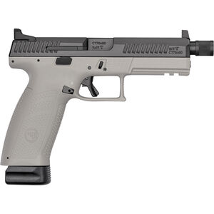 "CZ P-10 F Suppressor-Ready 9mm Luger Semi Auto Pistol 5.11"" Threaded Barrel 10 Rounds High Night Sights Two Tone Urban Gray Polymer Frame Black Finish"