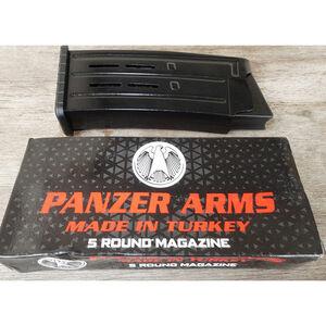 "Panzer Arms AR-12 Magazine 12 Gauge 5 Rounds 3"" Chamber Steel Matte Black"