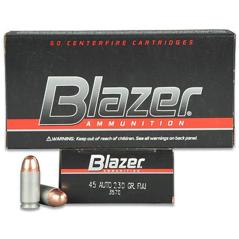CCI Blazer .45 ACP Ammunition 50 Rounds FMJ 230 Grains 3570
