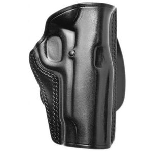 """Galco Speed Paddle S&W J Frame 2"""", Charter Arms Undercover, Colt Agent Paddle Holster Right Hand Leather/Polymer Black SPD118B"""