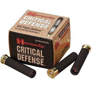 "Hornady .410 Bore Ammunition 20 Rounds 2.5"" FTX Slug / 2 Balls 86238"