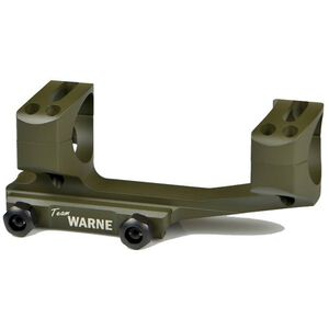 Warne Scope Mounts Gen 2 Extended XSKEL One Piece AR-15 Skeletonized Scope Mount 30mm Tube Diameter Lightweight 6061 Aluminum Matte Olive Drab Green XSKEL30OD