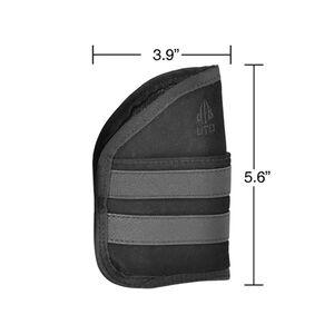 "Leapers UTG Subcompact Semi Auto Pocket Holster 3.9""x5.6"" Ambidextrous Nylon Black PVC-HP39"
