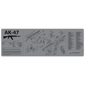 "TekMat AK-47 Armorer's Bench Maintenance Mat 12""x36"" Fabric/Neoprene Grey"