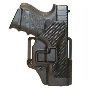 BLACKHAWK! CQC SERPA GLOCK 26/27/33 Belt Holster Right Hand Black Carbon Fiber Finish 410001BK-R
