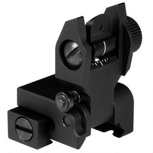 Aim Sports AR-15 Rear Iron Sight, Flip Up, Aluminum, Black