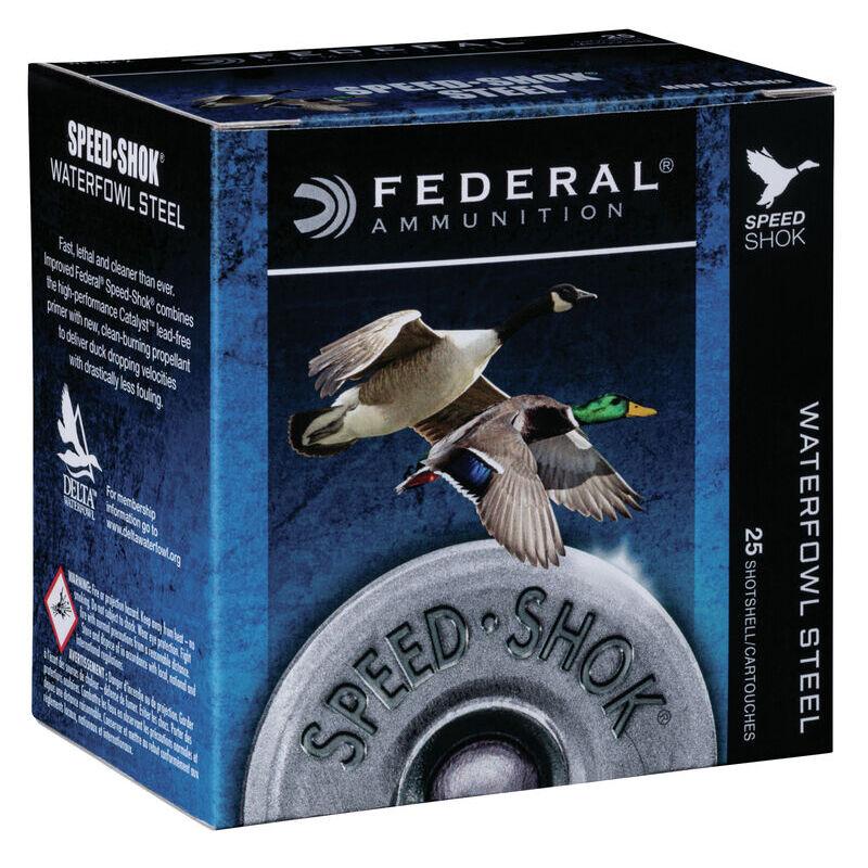 "Federal Speed Shok Waterfowl Steel 12 Gauge Ammunition 3"" #2 Steel Shot 1-1/4 oz 1450 fps"
