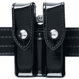 Safariland Model 72 Double Magazine Pouch and Cuff Holder Size Group 1 Plain Finish Black 72-383-2