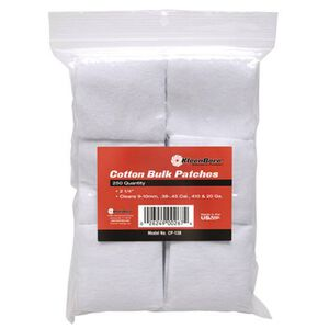 """KleenBore SuperShooter Patch 12 Gauge to 16 Gauge 3"""" Square Cotton 500 Pack"""