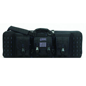 """Voodoo Tactical 36"""" Padded Weapons Case Black/Blue Stitching"""