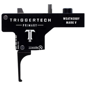 TriggerTech Weatherby Mark V Primary Adjustable Single-Stage Drop-In Flat Trigger 1.5 lb to 4.0 lbs Black PVD Finish