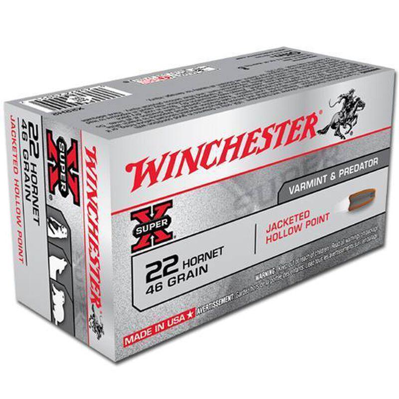 Winchester Super X .22 Hornet Ammunition 50 Rounds, JHP, 46 Grains