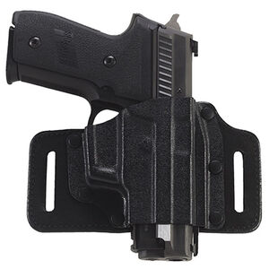 Galco TacSlide Springfield XD-S Belt Holster Right Hand Leather/Kydex Black TS662B