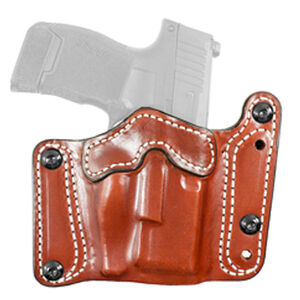 DeSantis Variable GRD Belt Slide Holster fits GLOCK 17 with Reflex Sights and Similar Ambidextrous Leather Tan