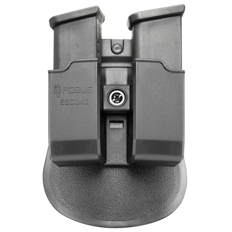 Fobus Double Magazine Pouch 9mm/.40 Double Stack Magazines Paddle Attachment Ambidextrous Polymer Black