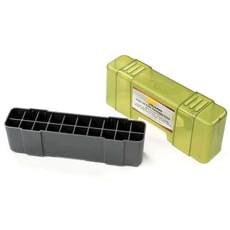 Plano Ammunition Box Large Rifle 20 Rounds Slip Top Green/Grey Polymer 6 Pack 123020