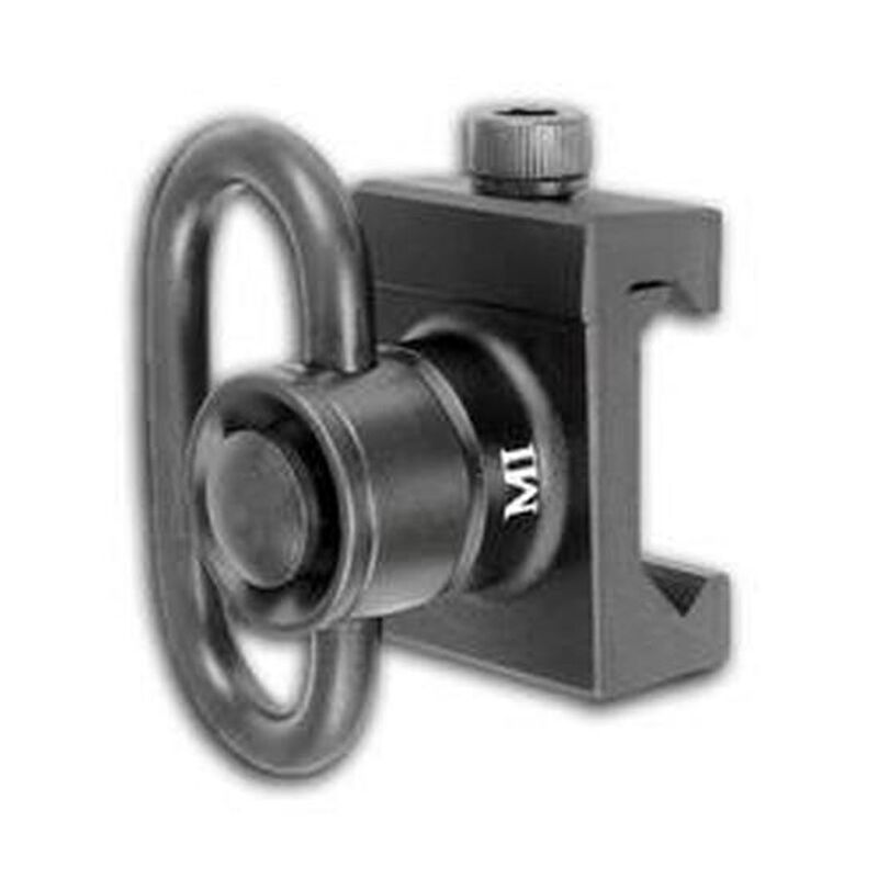 Midwest Industries AR-15 Heavy Duty QD Front Sling Picatinny Adapter Aluminum Black MCTAR-08HD