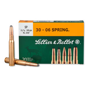 Sellier & Bellot .30-06 Springfield Ammunition 20 Rounds SP 180 Grains SB3006B