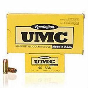 Remington .40 S&W UMC Ammunition 50 Rounds JHP 180 Grains