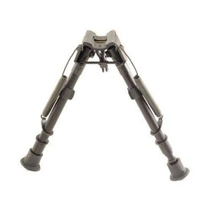 "Harris Ultra-light Bipod 1A2-LM Notched Legs Sling Swivel Stud Mount 9"" to 13"" Telescoping/Folding Legs Aluminum Matte Black"