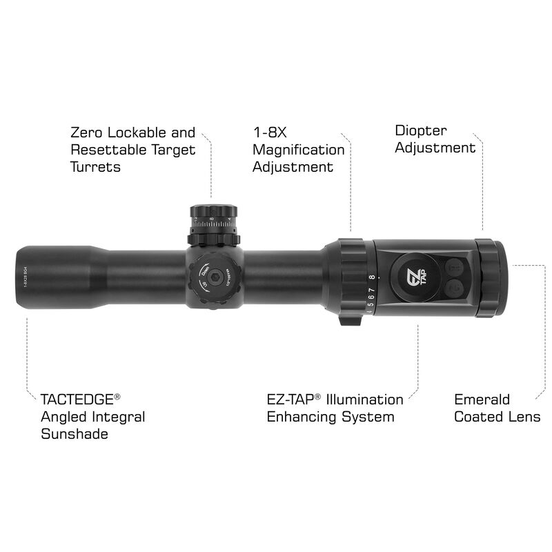 UTG 1-8X28 30mm MRC Scope, IE, BG4 Reticle, with ACCU-SYNC