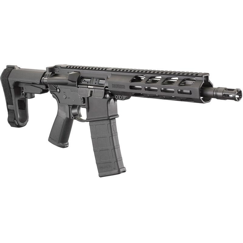 "Ruger AR-556 NATO Semi Auto AR-15 Pistol with SBA3 Brace 10.5"" Barrel 30 Rounds M-LOK Handguard Black"