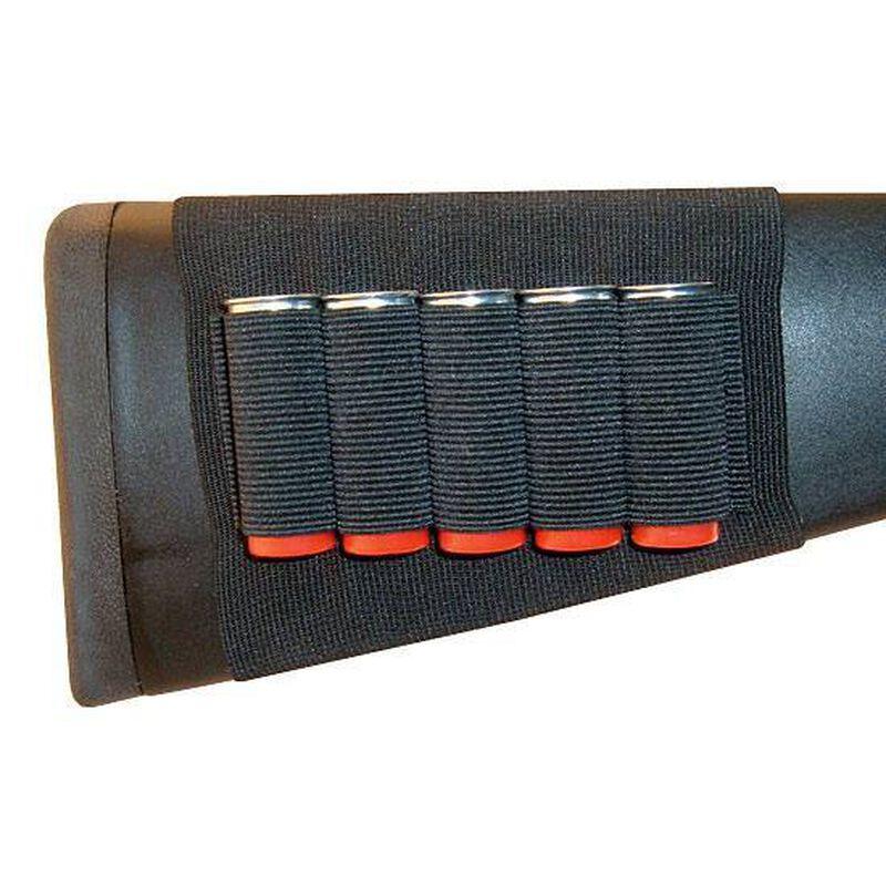 GrovTec Buttstock Shotgun Shell Holder 5 Shell Loops Nylon Black GTAC82