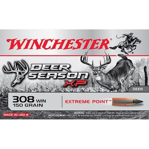 Winchester Deer Season XP .308 Winchester Ammunition 150 Grain Extreme Point Polymer Tip 20 Rounds