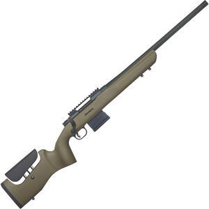 "Mossberg MVP LR 7.62 NATO Bolt Action Rifle 20"" Threaded Barrel 10 Rounds Picatinny Rail OD Green Synthetic Stock Blued Finish"