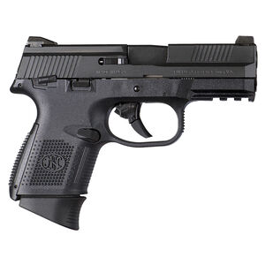 "FN Herstal USA FNS-9C Compact Semi-Auto Pistol 9mm Luger 3.6"" Barrel 12/17 Round Magazine No Manual Safety Fixed 3 Dot Sights Matte Black Finish"