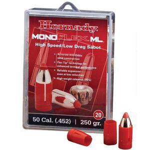"""Hornady.50 Caliber .452"""" Diameter 250 Grain Monoflex High Speed Low Drag Sabot 20 Count 67274"""