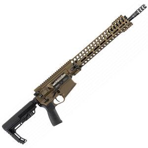 "POF Revolution AR Style Semi Auto Rifle .308 Winchester 16.5"" Match Grade Barrel 20 Rounds 14.5"" M-LOK Free Float Hand Guard MFT Pistol Grip/Stock Cerakote Burnt Bronze Finish"