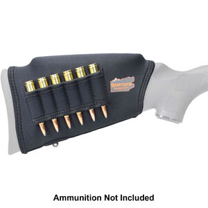 """Beartooth Products Comb Raising Kit 2.0 with Rifle Ammo Loops 7"""" Long Fits Most Rifle Stocks Neoprene Black"""