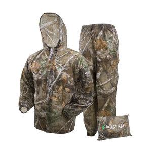Frogg Toggs Men's Ultra-Lite Rain Suit Size Large Realtree Edge