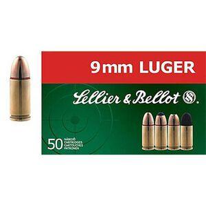 Sellier & Bellot 9mm Luger Ammunition JHP 115 Grains SB9C