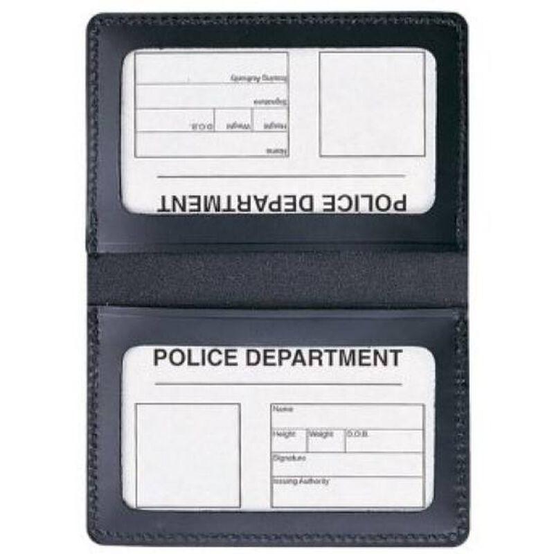 Aker Leather Double Window ID Case Black