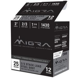 """Migra Ammunition 12 Gauge 150 Round Weekender 3"""" #2/3 Steel Shot 1-1/4 oz 1430 fps"""