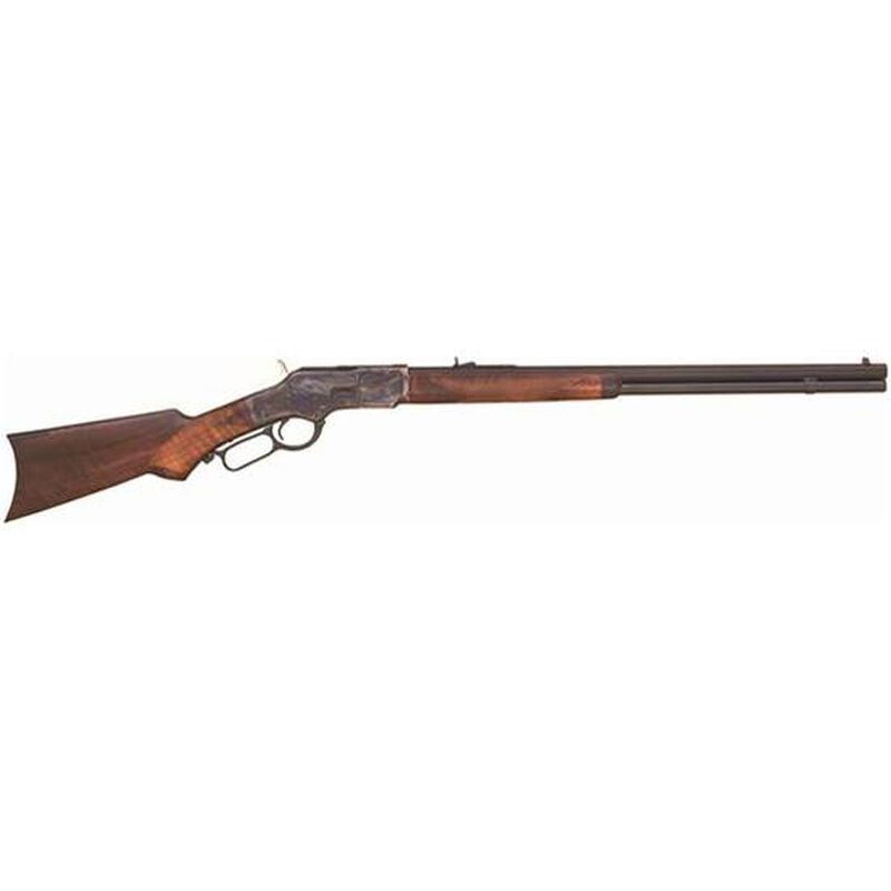 """Cimarron 1873 Deluxe Sporting Lever Action Rifle .44-40 Winchester 24"""" Barrel 12 Rounds Hand Checkered Pistol Gip Walnut Stock Case Hardened Frame CA275"""